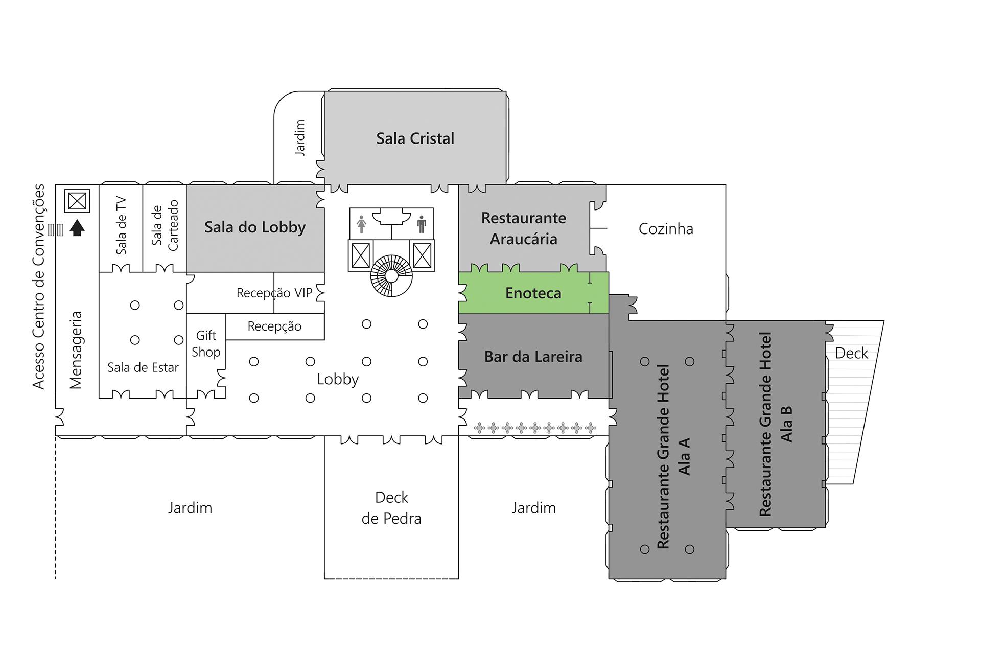 Grande Hotel Campos do Jordão - Planta Enoteca