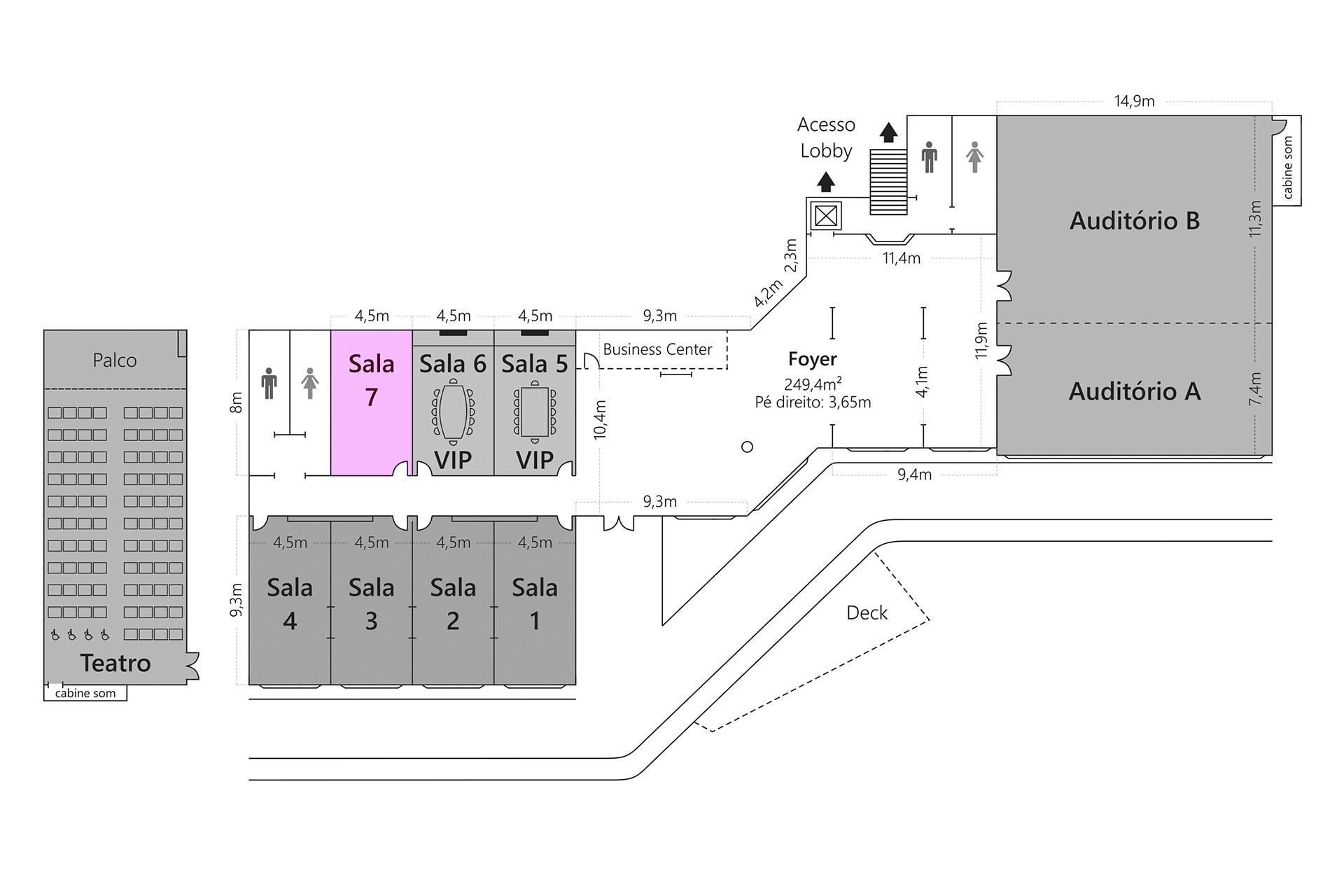 Grande Hotel Campos do Jordão - Planta Sala 7