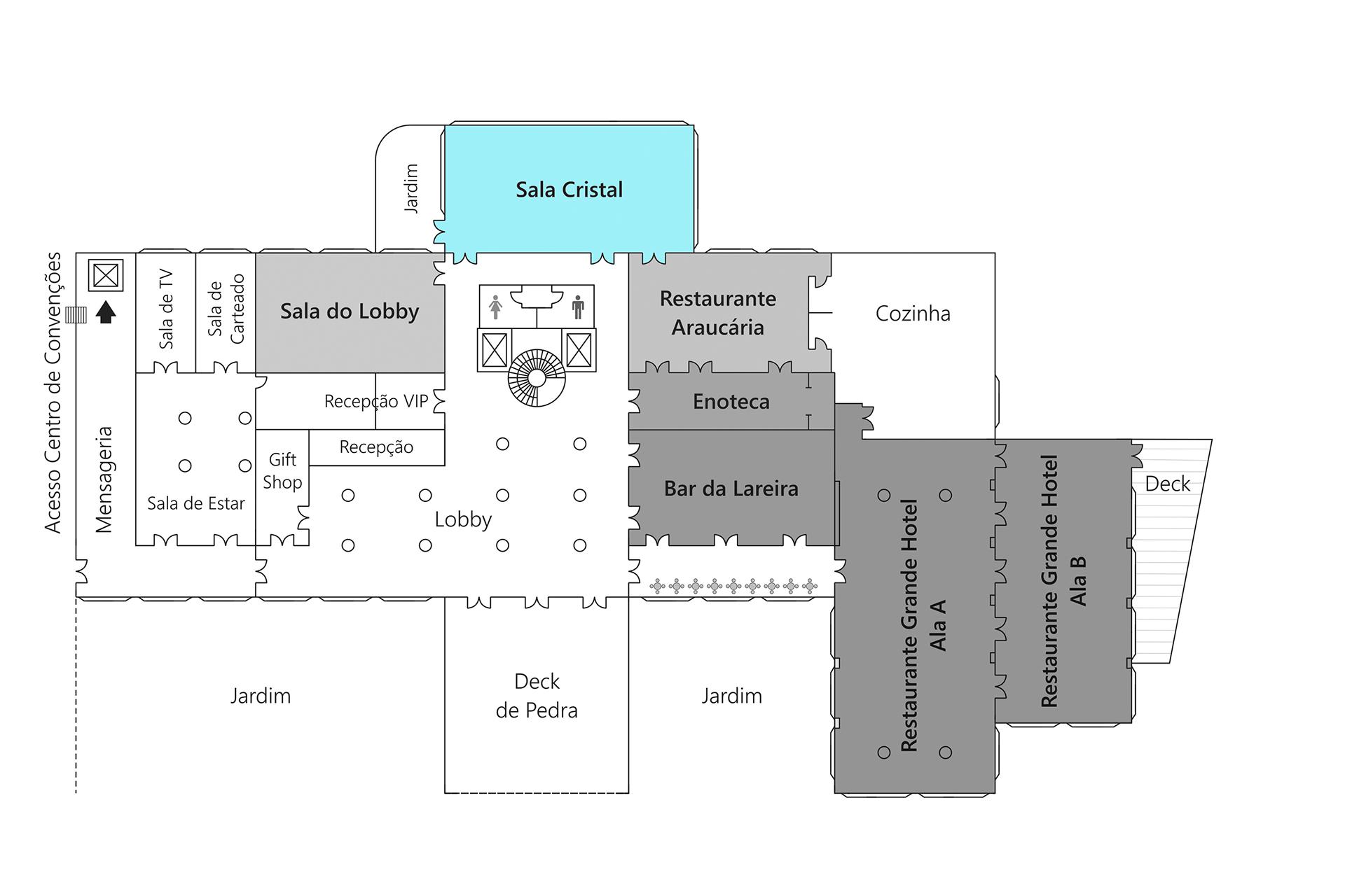 Grande Hotel Campos do Jordão - Planta Sala Cristal