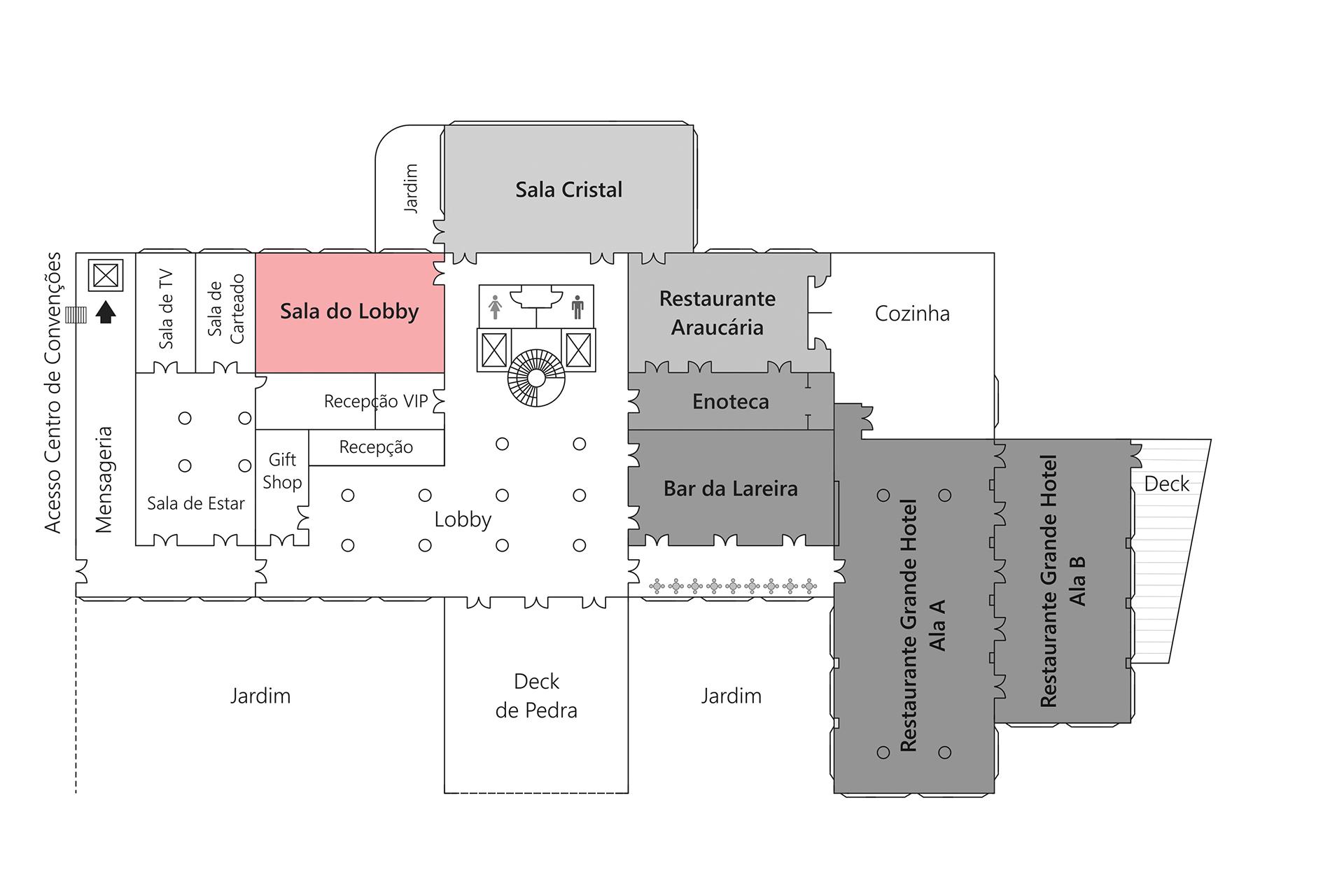 Grande Hotel Campos do Jordão - Planta Sala do Lobby