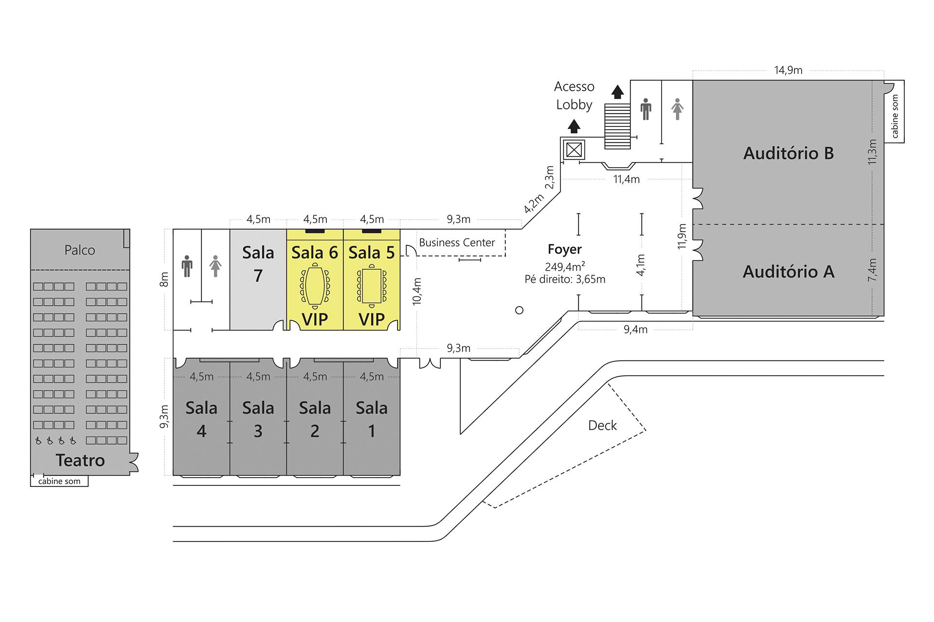 Grande Hotel Campos do Jordão - Planta Sala VIP