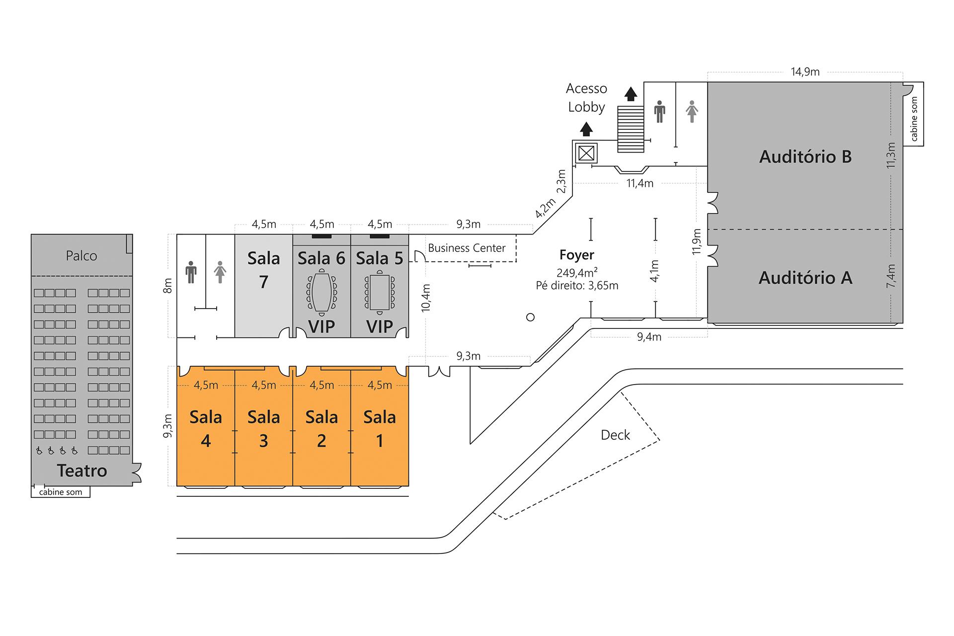 Grande Hotel Campos do Jordão - Planta Salas 1 a 4