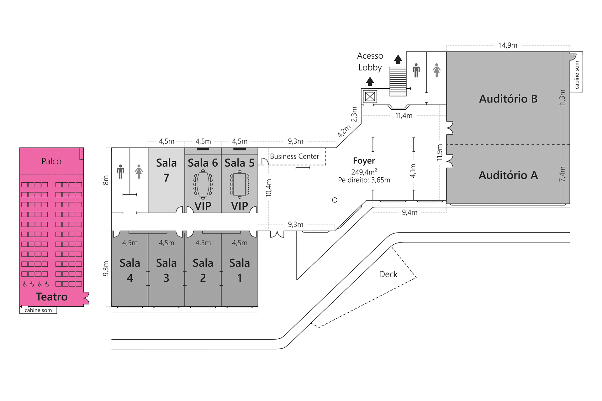 Grande Hotel Campos do Jordão - Planta Teatro