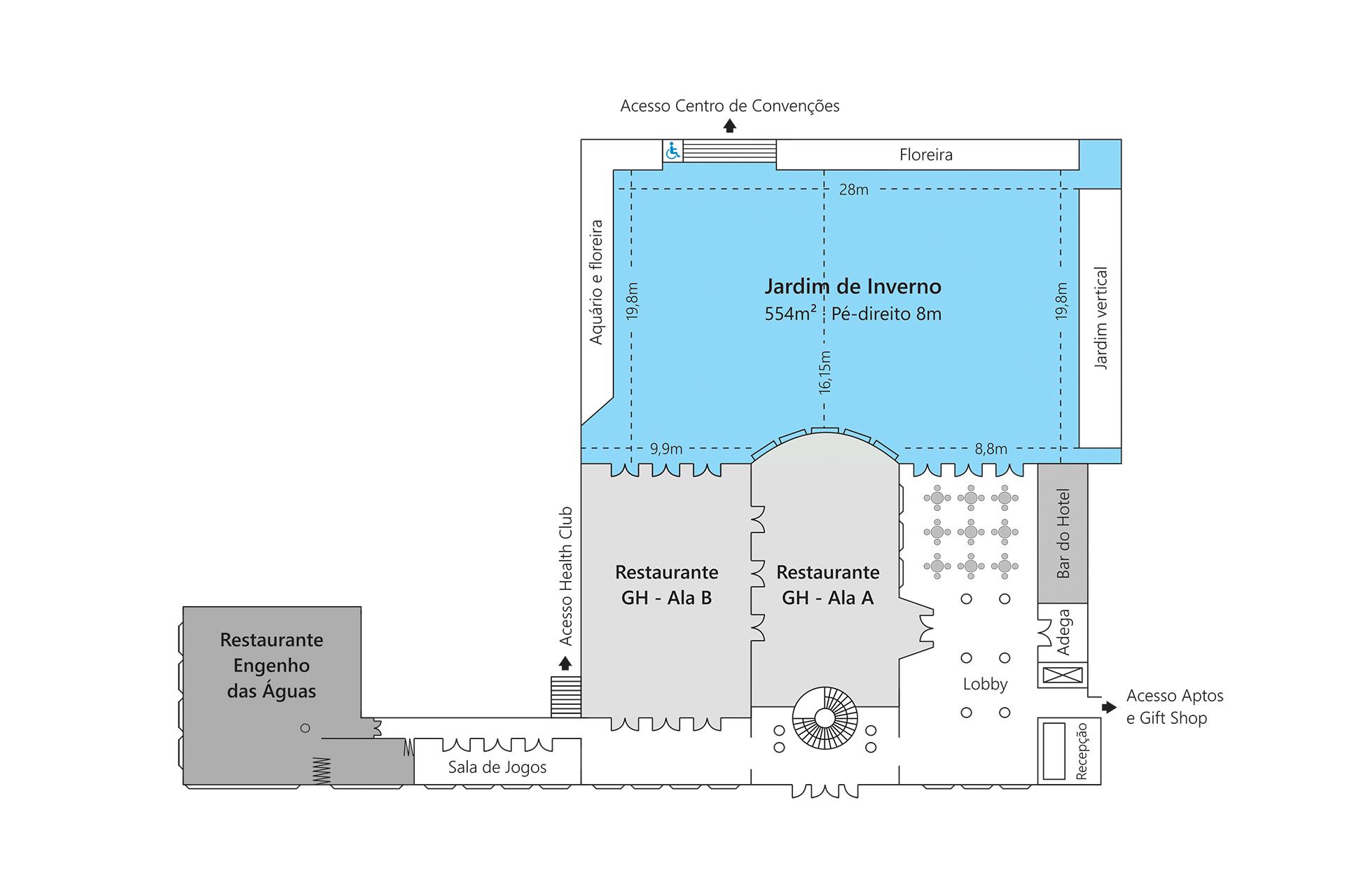Grande Hotel São Pedro - Planta Jardim de Inverno